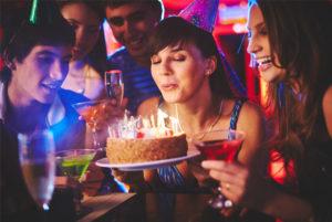Raum Geburtstagsfeier